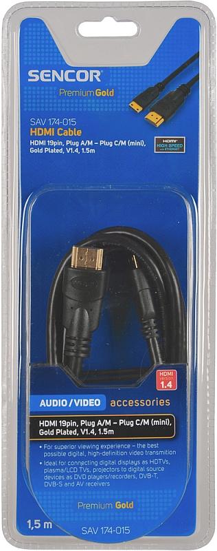 SENCOR AV kabel SAV 174-015 HDMI A-C mini V1.4 PG 35040933