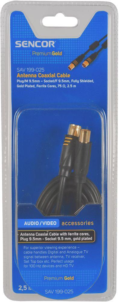 SENCOR SAV 199-025 koaxiální kabel ferit M-F PG 35040930
