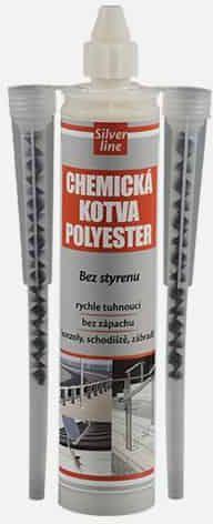 SILVER LINE Chemická kotva POLYESTER SF (bez styrenu) SL, kartuše, 300 ml, šedá 1167