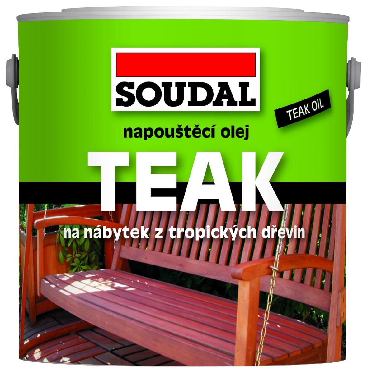 SOUDAL napouštěcí olej na dřevo 0,5 l transparentní