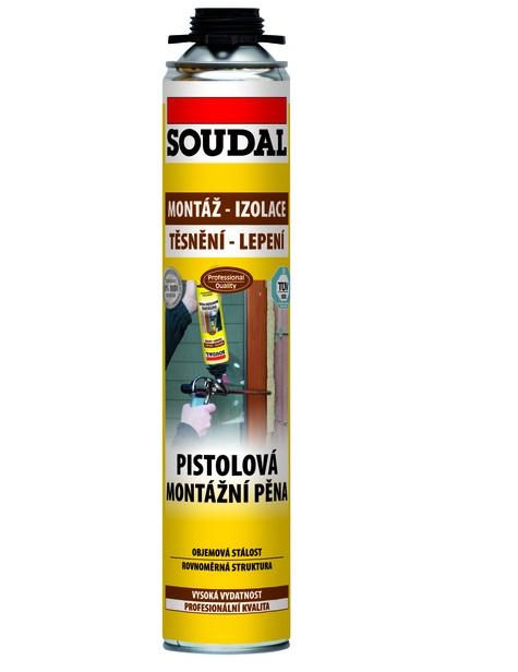 SOUDAL montážní pěna pistolová 750 ml, žlutá