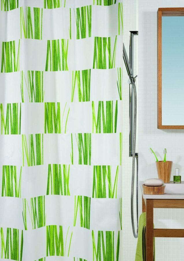 SPIRELLA SEAGRASS Sprchový závěs 180 x 200 cm green 1013245