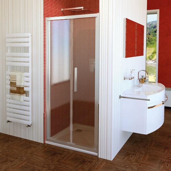POLYSAN LUCIS LINE skládací sprchové dveře 900mm, čiré sklo