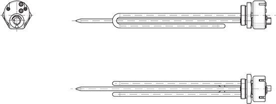 TATRAMAT HP 2/040 Přírubové elektrické topné těleso pro ohřívače VTH, 230646
