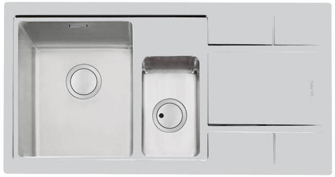 FOSTER S4001 nerezový dřez s vaničkou, FM levý 4465 062