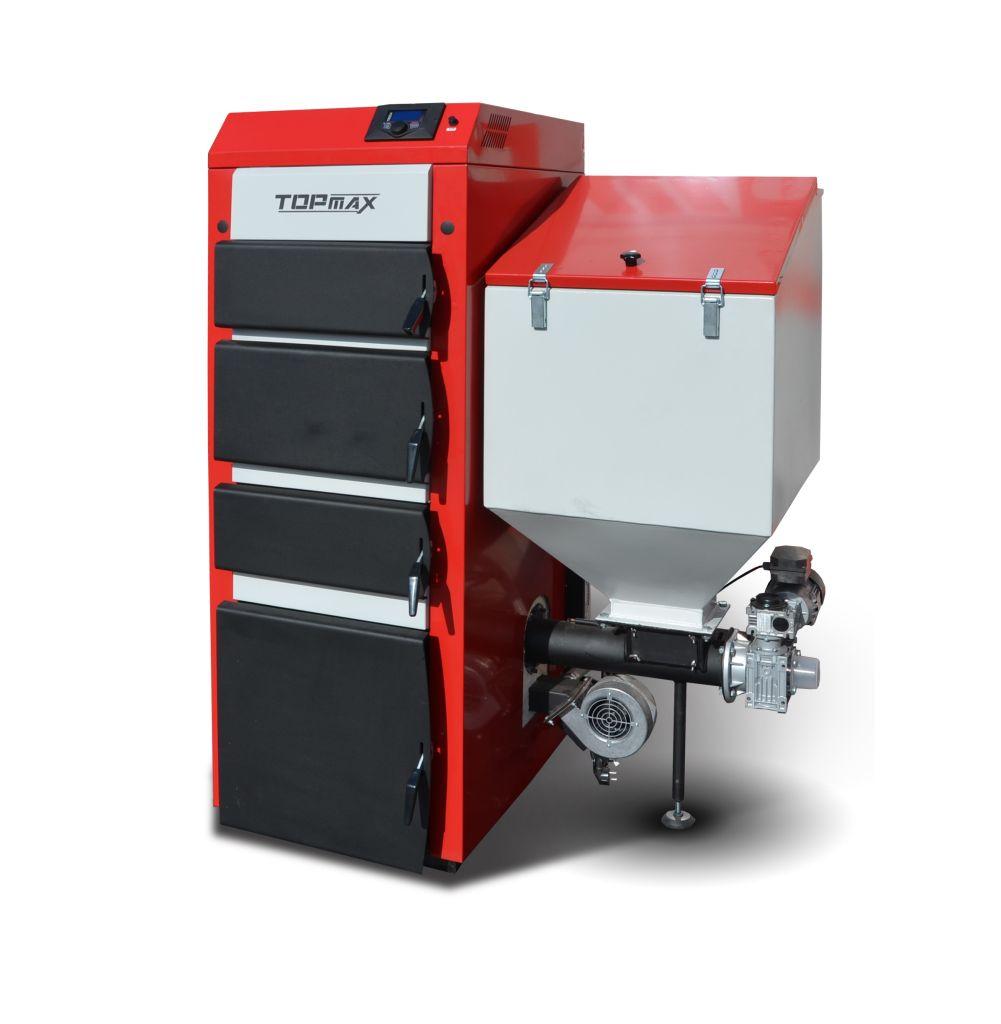 TOPmax Top-DUAL multi 15 Automatický kotel na uhlí, pelety a dřevo, pravý TOP446-15-101/P