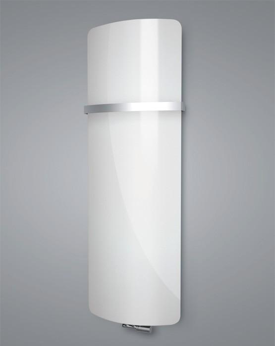 ISAN VARIANT GLASS skleněný designový radiátor 1810/620 pure white DGBG 1810 0620 S