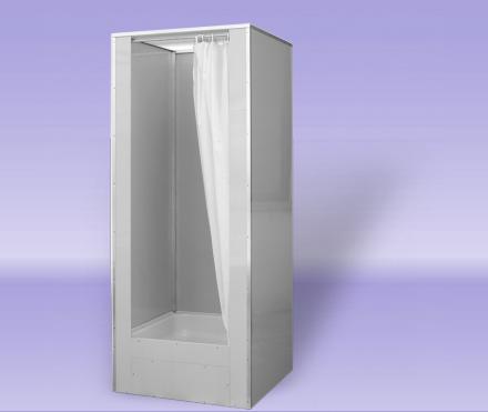 TEIKO DORA průmyslový sprchový box se závěsem 80x80 cm V404080N00T21330