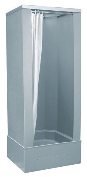 TEIKO POLY průmyslový sprchový box se závěsem 80x81cm V404080N00T11330