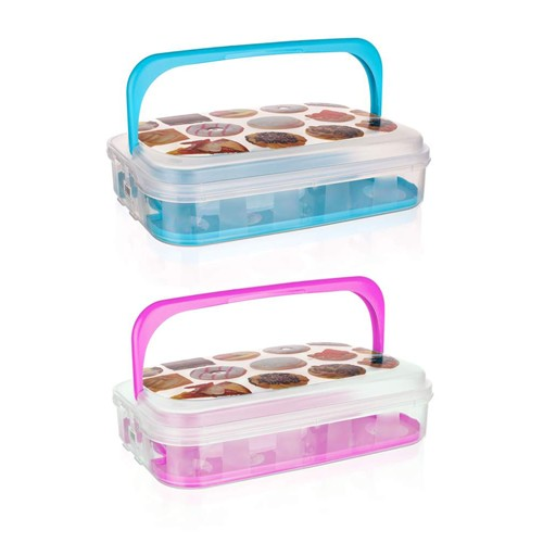 VETRO-PLUS Box na pečivo a cukroví 7 l modrá 55045011