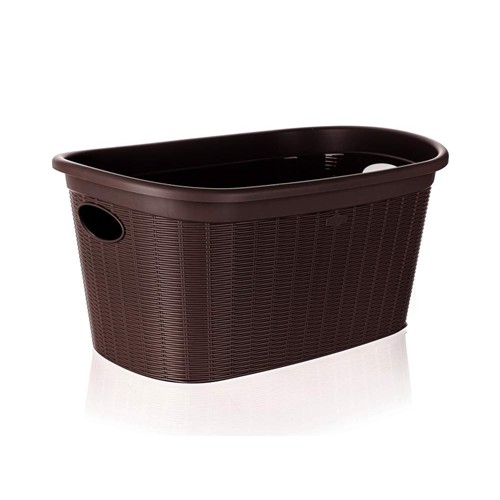 VETRO-PLUS RATTAN Koš na čisté prádlo 58x38x28cm 35 l, tmavě hnědý 55PRO175C