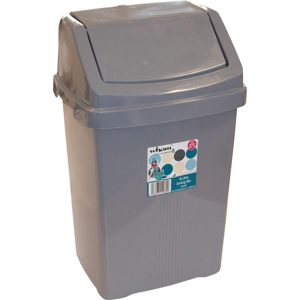 WHAM 12080 koš odpadkový 8l stříbrný 42000039