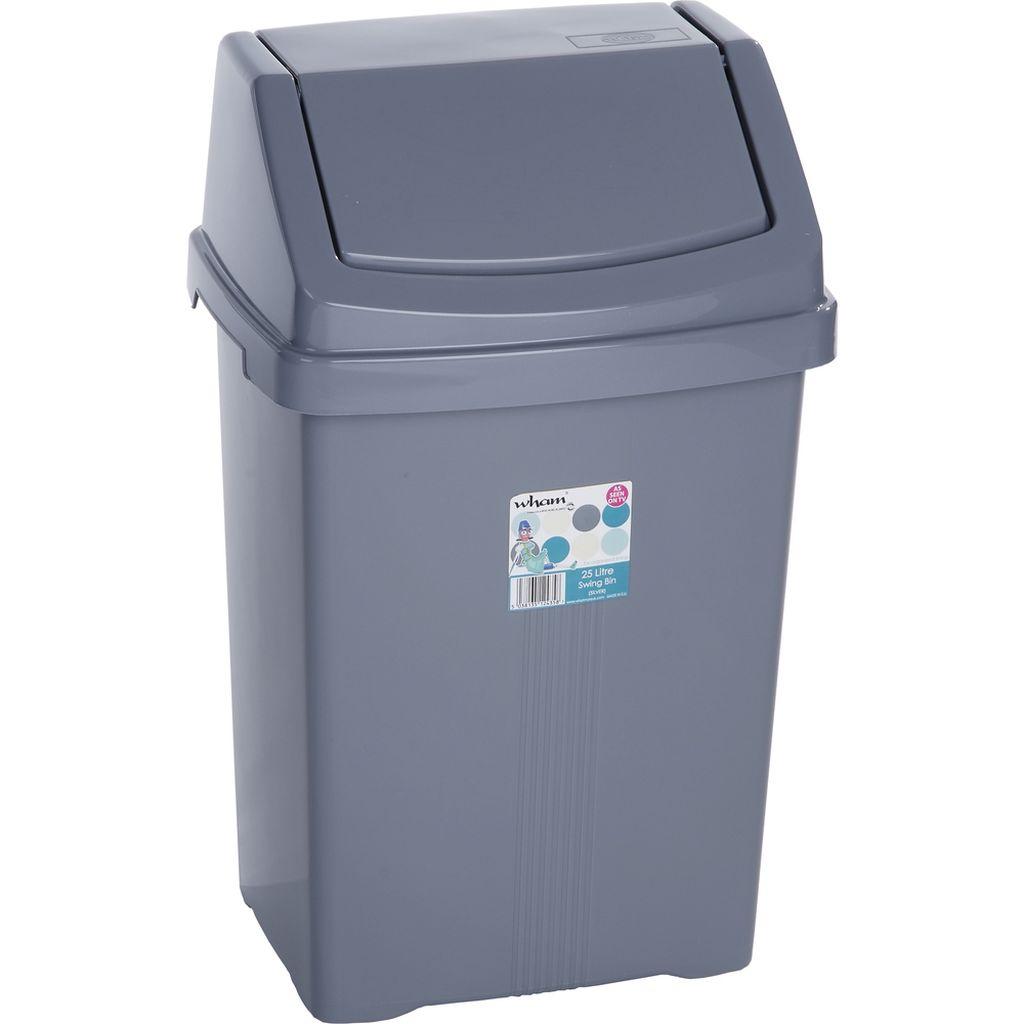 WHAM 11750 koš odpadkový 25l stříbrný 42000045