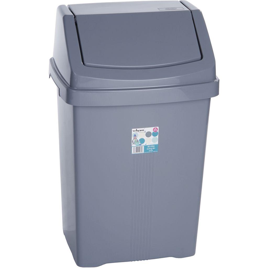 WHAM 11755 koš odpadkový 50l stříbrný 42000048