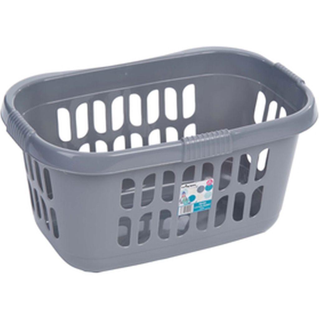 WHAM 10088 koš na prádlo 60 x 39 x 30,5cm, 71l stříbrný 42000069