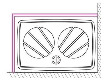 RAVAK panel Gigant Pro 100x80 SET L white XA83AL01010